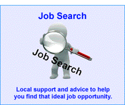 Link to employability advice and job  search.